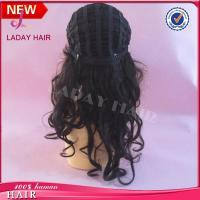 China Training Head High Temperature Fiber Hair Hairdressing Female Mannequin on sale