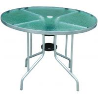 China Round Glass Top Dining Table on sale
