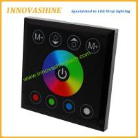 China Full color dc 12v-24v Wall mounted RGBW Glass Touch panel controller for led strip tape lights for sale