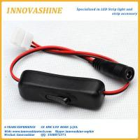 Female DC to 8mm or 10mm width connector with on off switch for sale