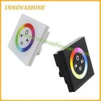 DC12V-24V LED glass touch panel RGB wall controller for RGB led lights 3528 5050 strip for sale