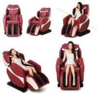 China FullBody Electric Red Leather Lounge Massage Chair on sale