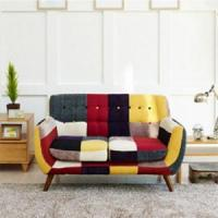 China Linen Sofas Mid-Century Replica 3pcs Patchwork Couch Armrest Sofas on sale
