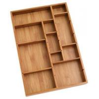 Wholesale Durable Bamboo Tray Drawer Organizer For Utensils Cutlery from china suppliers