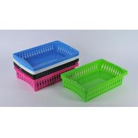 Wholesale CLEANING PK2 Plastic Rectangular Storage Trays Baskets Organization from china suppliers