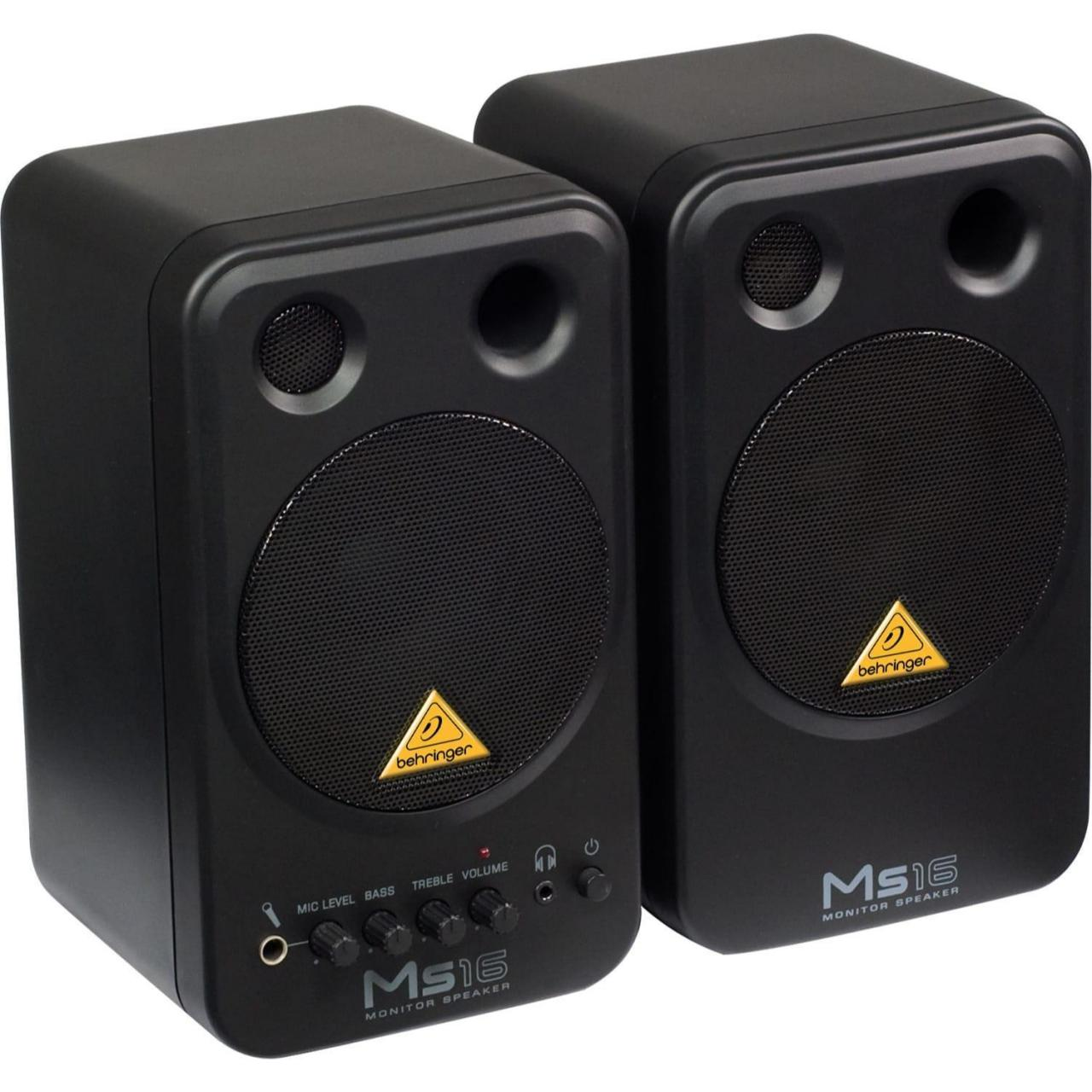 Wholesale Recording Behringer MS16 2-Way Active Studio Monitor Speaker Pair from china suppliers