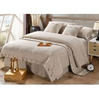 Wholesale Pure Linen Wooden Buttons Modern Bedding Sets 4Pcs Real Simple Logo Customized from china suppliers
