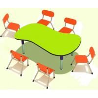 Wholesale Cheap Wooden Adjustable Height Double Student Desk And Chair Set from china suppliers