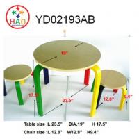 Buy cheap HAO Household MDF Child's Table and Chairs Set for Childrens,Toddler,Baby,Wooden Desk and Chair Set from wholesalers