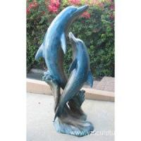 China Life Size Bronze Dolphin Statue For Sale on sale