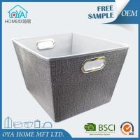 Wholesale Large Grey Canvas Style Non Woven Fabric Storage Bin from china suppliers