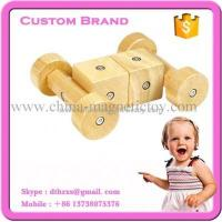 Wholesale 30PCS Wooden Magnetic Tiles Toy from china suppliers