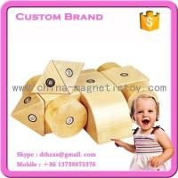 Wholesale 20PCS kids wooden magnetic blocks toys building tiles construction brain development toy manufacture from china suppliers