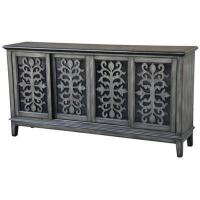 Wholesale Garrison Brushed Charcoal Metallic 4 Sliding Door Media Console 72x16x36 from china suppliers