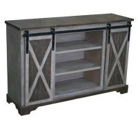 Wholesale Richland Grey Two Tone Sliding Door Media Console 54x16x35 from china suppliers