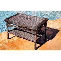China Portside Wicker Coffee Table - Dark Roast on sale