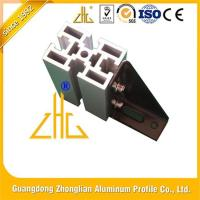 China Easy Assembly Bi-Slotted Production Line Anodized Aluminium T Slot Extrusion for sale