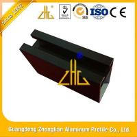 Black champagne anodized matt and various color construction extruded aluminium profile system for sale