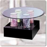 Round glass cocktail tables quality round glass cocktail for Aquarium cocktail table