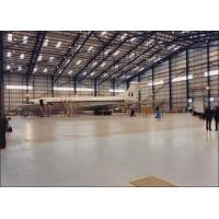 China I / H Beams Constructed Metal Aircraft Hangar Buildings Providing Grand Interior Space on sale