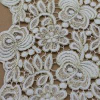 Wholesale Latest Flower Design Heavy Cord Water Soluble Chemical Lace Fabric (S8067) from china suppliers