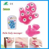 Wholesale 9 Stainless Steel Balls Anti-cellulite Glove Palm Handheld Body Slimming Roller Massage from china suppliers
