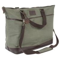 Wholesale Cotton Canvas Overnight Custom Bags w/ Leather Accents from china suppliers