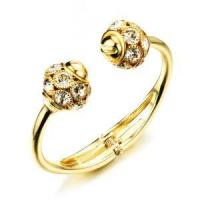 China Gold Plated Crystal Bangle For Women Bridal Bracelet wholesale HKH494 on sale