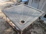 Buy cheap Stone Tiles & Slabs Blue Limestone Shower Tray Size For Bathroom Kitchen from wholesalers