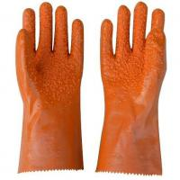 Wholesale Black PVC Coated Working Gloves with PVC Chips on Palm and Fingers from china suppliers