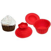China Jumbo Cupcakes Bake Set - 25x Bigger Than a Big Cupcake! - Also Includes Cupcake Recipe Book on sale