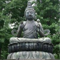 Buy cheap Majestic Buddha Brass Meditating Statue as Holiday Decoration from wholesalers