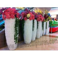 Wholesale Shopping Mall Decor Rectangle Fiberglass Planters Sculpture from china suppliers