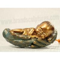 Wholesale Cute and Sleepy Fiberglass Baby Sculpture as Home Decoration from china suppliers