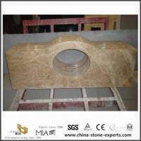 Wholesale Light Emperador Laminate Marble Vanitytop for Kitchen and Bathroom from china suppliers
