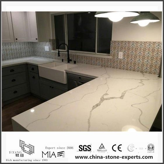 Quality Most Popular White Quartz Countertop Colors for Kitchen Design for sale