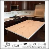 Wholesale White Calacatta Engineered Quartz Stone Kitchen Countertops with Cheap Cost from china suppliers