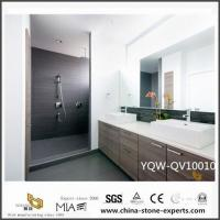 Wholesale Cheap White Quartz Vanity Tops with Double Sink for Bathroom Decoration from china suppliers