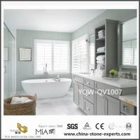 Wholesale Custom White Quartz Vanity Tops with Sink for Bathroom Design from china suppliers