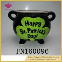 Buy cheap Happy St . Patrick's Day Candy Sealed Cans Box Shamrocks Sugar Tea Ceramic Jar Container from wholesalers