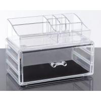 Wholesale Clear Acrylic Lipstick Organizer Storage Case With 2 Tiers from china suppliers