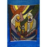 China Nativity Scenes Handwoven Wool Nativity Tapestry Fair Trade Peru on sale