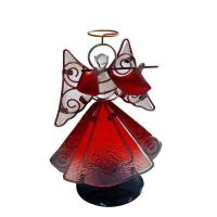 Wholesale metal stained glass Angel holder Wholesale Home Decoration from china suppliers