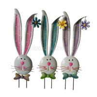 Wholesale Bunny Metal Garden Stake Spring Easter Decoration from china suppliers
