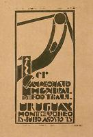 Wholesale Rare Vintage Poster Of World Champion Soccer Game Urugay Montevideo Fifa C. 1930 from china suppliers