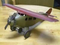 China 1930s Prewar Antique Classic Usa Propeller Plane Bomber Airplane Tin Steel Toy on sale
