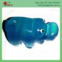 Wholesale Novelty Tpr Small Animal Toy Sticky Jelly Hippo Toy For Capsule Toy from china suppliers