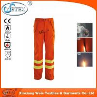 Buy cheap EN 11612 hi vis orange flame retardant reflective pants for men workers from wholesalers