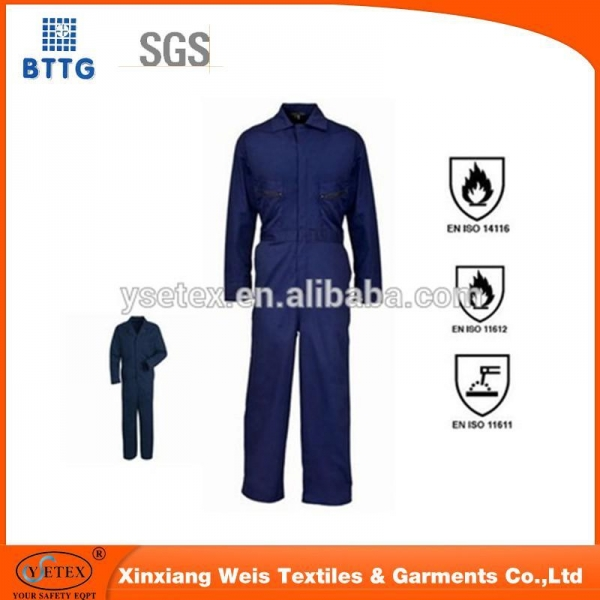 Quality 100%cotton flame-retardant overalls for sale