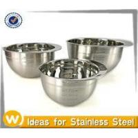 China 1.5QT/3.0QT/5.0QT Stainless steel mixing bowl with Spout on sale